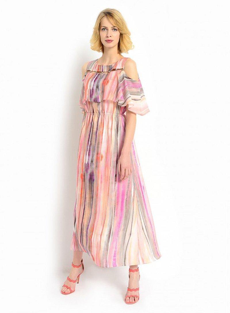 abcce855c0 Sukienka maxi ze zdobionym dekoltem Brazil 039 137-62