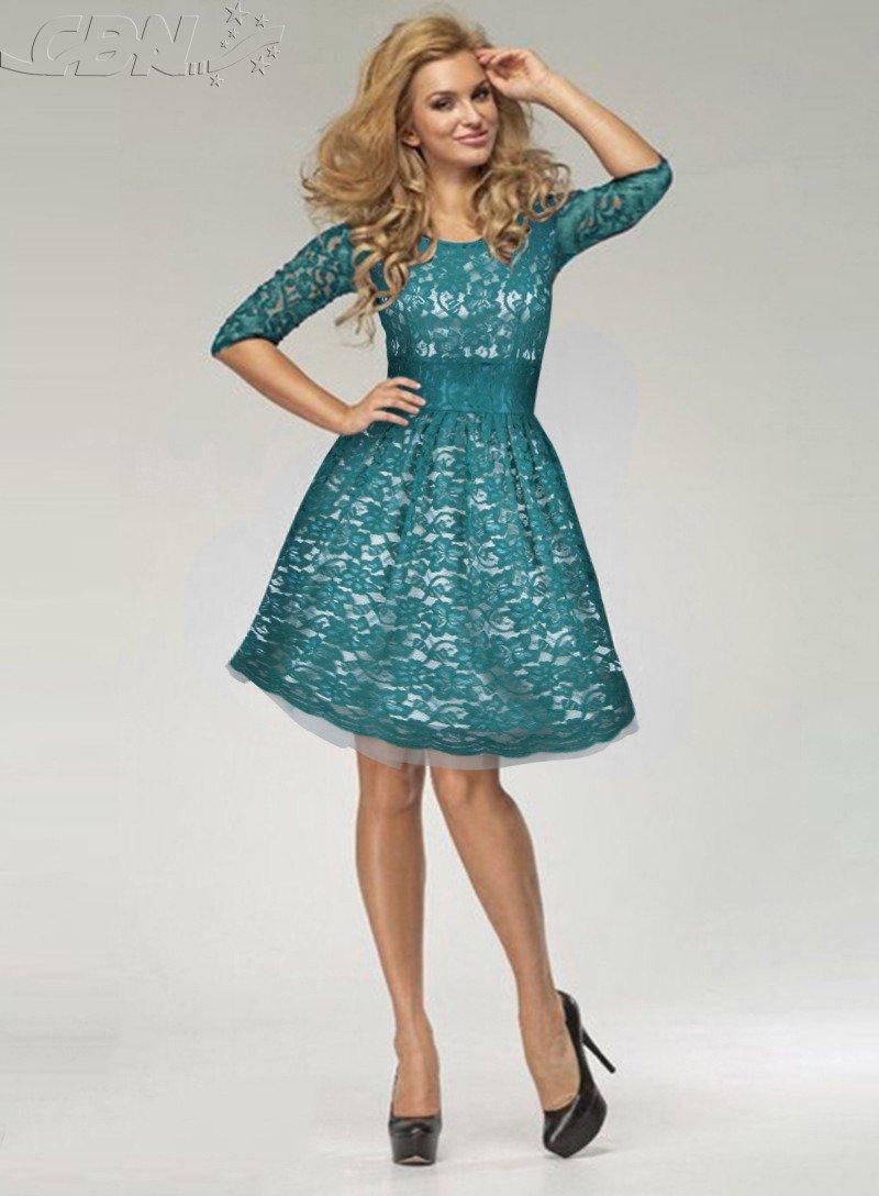 Sukienka Na Wesele W Kolorze Zielono Szmaragdowym Na Ecru 0051413 2